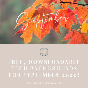 September free tech background download