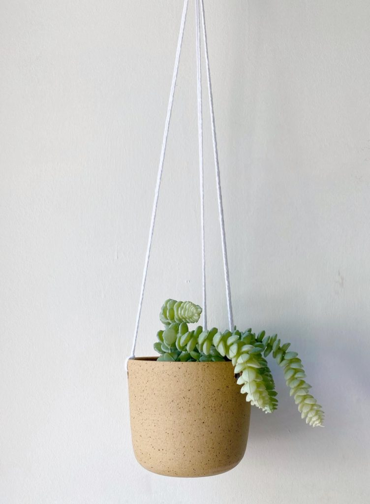 natural-stonware-hanging-plant-holder-sustainable-holiday-gift-guide